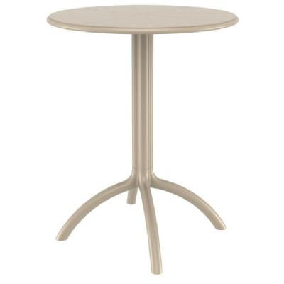 Octopus Outdoor Dining Table 24 inch Round Dove Gray ISP160-DVR