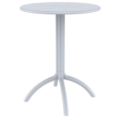 Octopus Outdoor Dining Table 24 inch Round Silver Gray ISP160-SIL