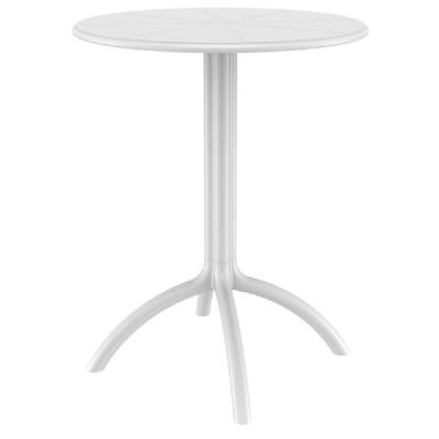 Octopus Outdoor Dining Table 24 inch Round White ISP160-WHI