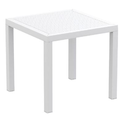 Ares Resin Outdoor Table 31 inch Square White ISP164-WHI