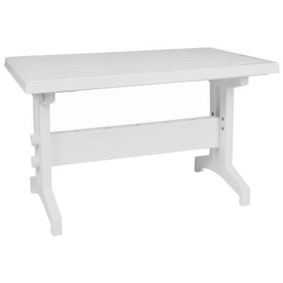 Sunshine Resin Rectangle Table White 47 inch ISP180-WHI