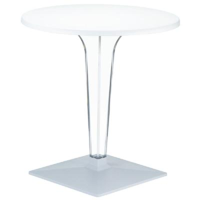 Ice Round Dining Table White Top 31.5 inch. ISP520-WHI