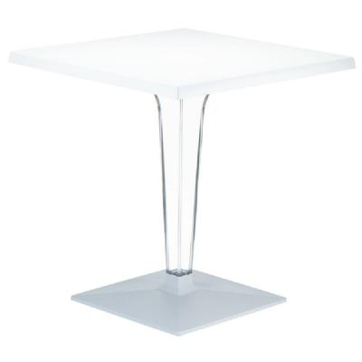 Ice Square Dining Table White Top 24 inch. ISP550-WHI
