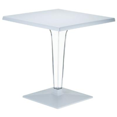 Ice Square Dining Table Gray Top 28 inch. ISP560-SIL
