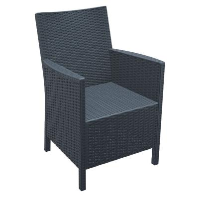 California Wickerlook Chair Dark Gray ISP806-DG