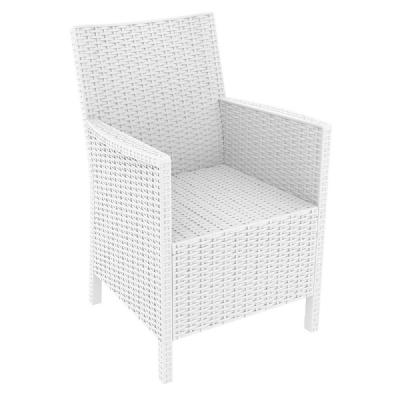 California Wickerlook Chair White ISP806-WH