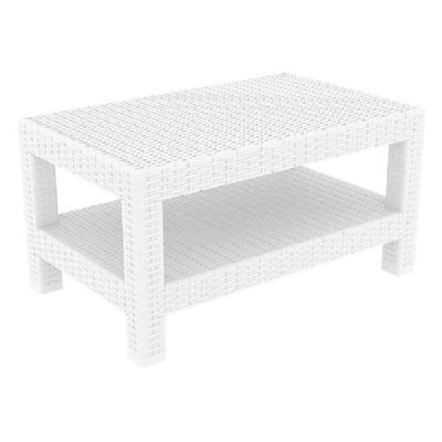 Monaco Wickerlook Lounge Table White ISP838-WH