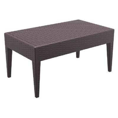 Miami Rectangle Resin Wickerlook Coffee Table Brown ISP855-BR