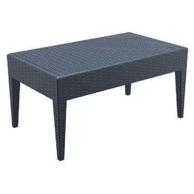 Miami Rectangle Resin Wickerlook Coffee Table Dark Gray ISP855-DG