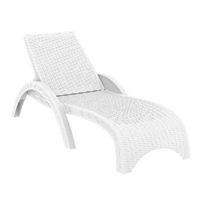 White chaise lounge full size of chaise white tuxedo for Arild chaise longue