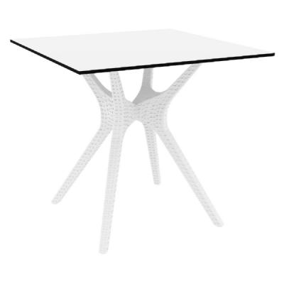 Ibiza Square Dining Table 31 inch White ISP863-WH
