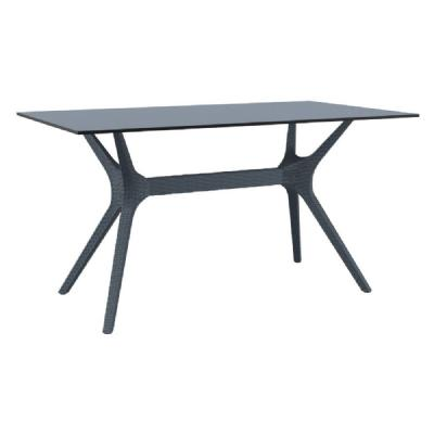 Ibiza Rectangle Dining Table 55 inch Dark Gray ISP864-DG