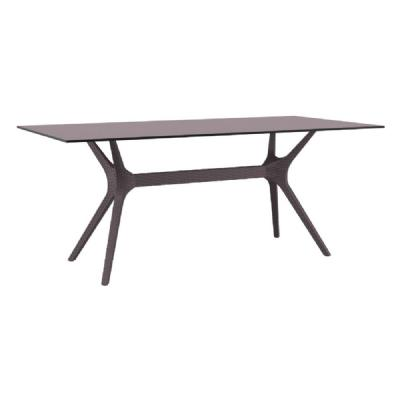Ibiza Rectangle Dining Table 71 inch Brown ISP865-BR