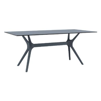 Ibiza Rectangle Dining Table 71 inch Dark Gray ISP865-DG