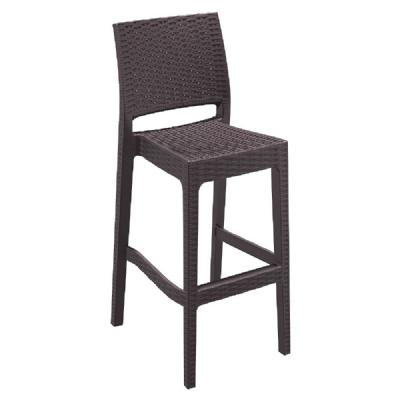 Jamaica Wickerlook Resin Bar Chair Brown ISP866-BR