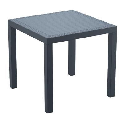 Orlando Wickerlook Square Dining Table Dark Gray 31 inch. ISP875-DG