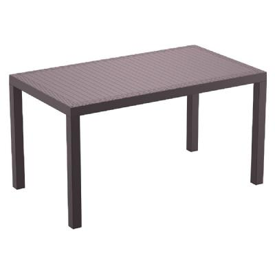 Orlando Wickerlook Rectangle Dining Table Brown 55 inch. ISP878-BR
