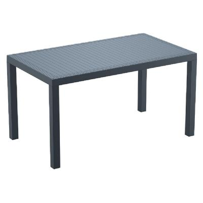Orlando Wickerlook Rectangle Dining Table Dark Gray 55 inch. ISP878-DG