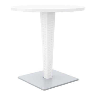 Riva Wickerlook Resin Round Dining Table White 28 inch. ISP882-WH