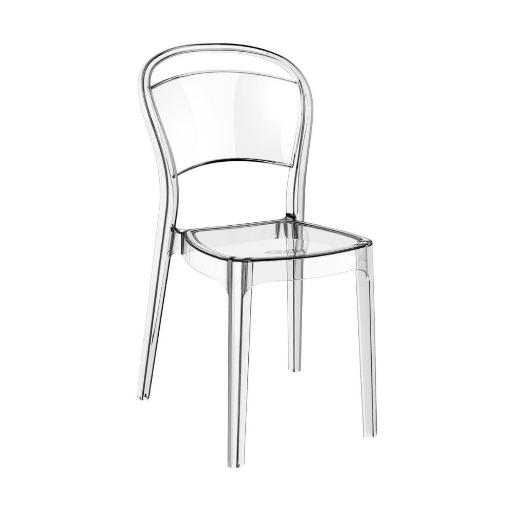 Bo Polycarbonate Dining Chair Transparent Clear ISP005-TCL