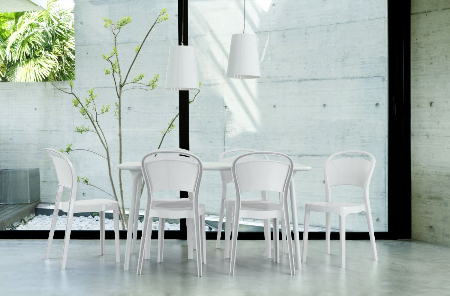 Bo Polycarbonate Dining Chair Transparent Clear ISP005-TCL - 1