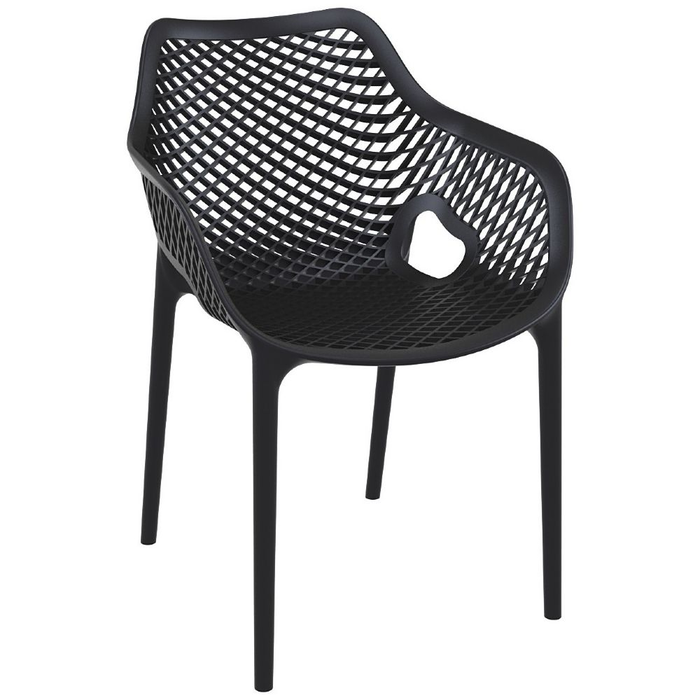 Air XL Resin Outdoor Arm Chair Black ISP007-BLA