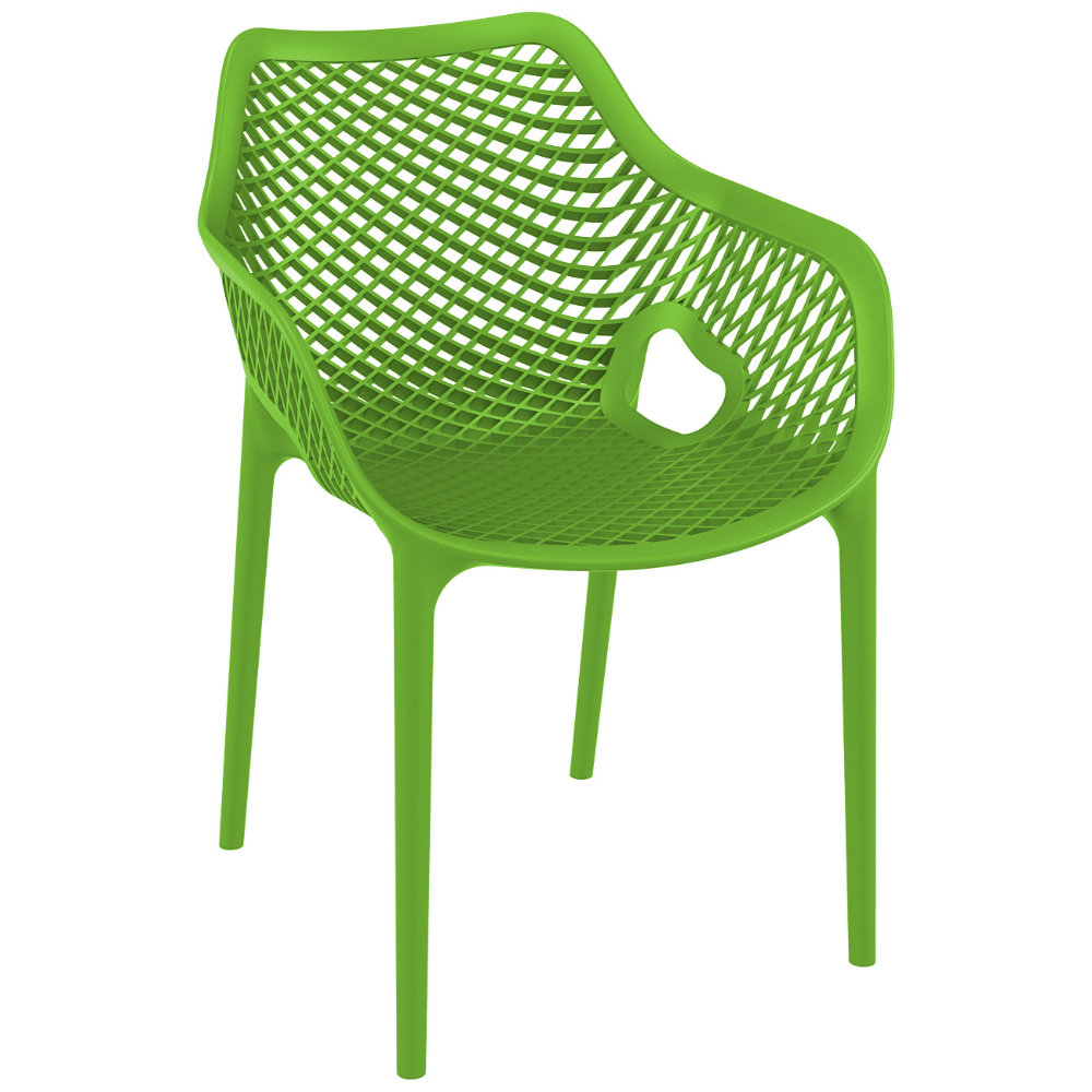 Air XL Resin Dining Arm Chair Tropical Green ISP007-TRG