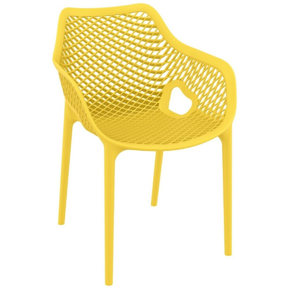 Air XL Resin Dining Arm Chair Yellow ISP007-YEL