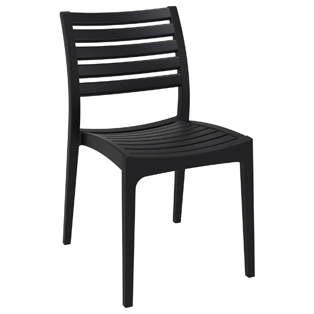 Ares Resin Outdoor Dining Chair Black ISP009-BLA