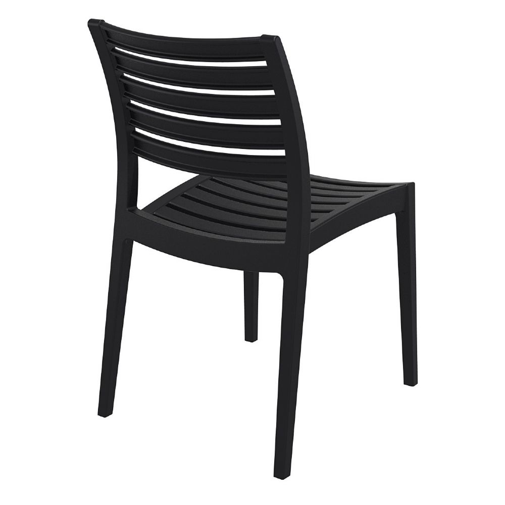 Compamia Ares Resin Outdoor Dining Chair Black Isp009 Bla