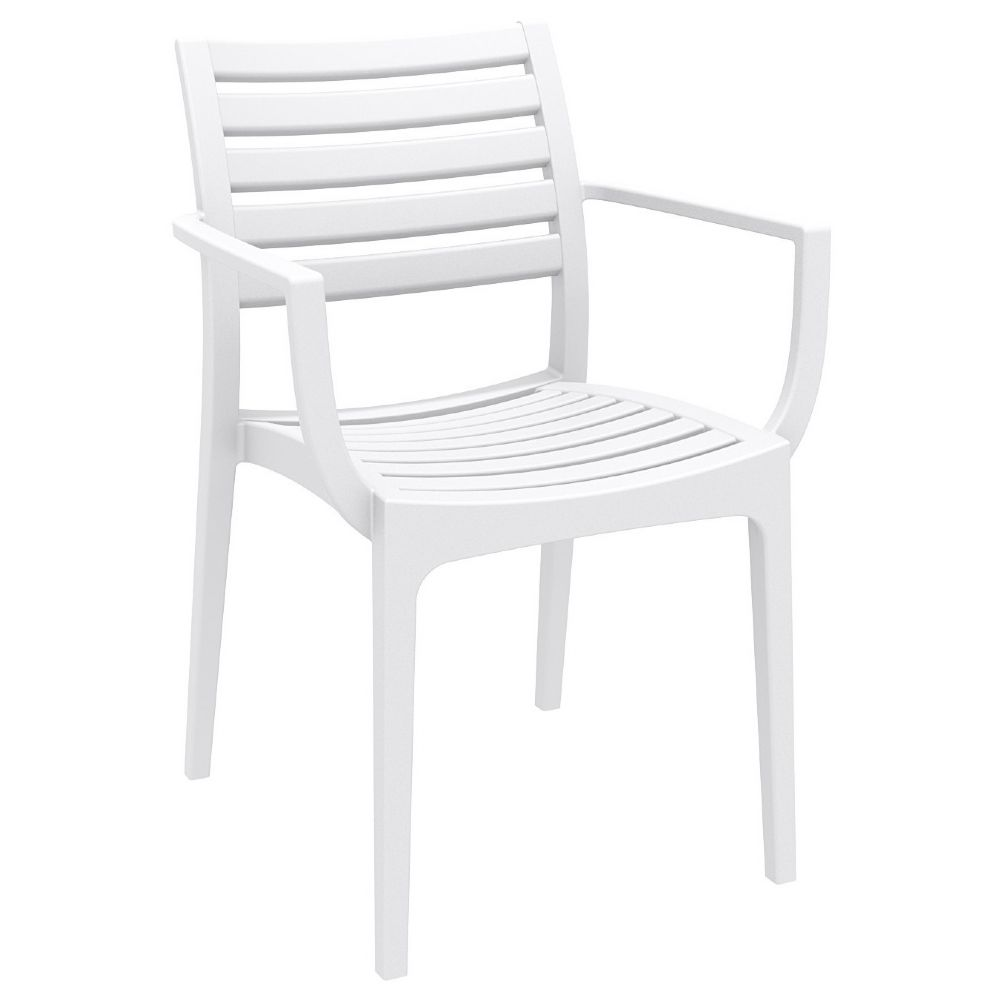 Artemis Resin Arm Chair White ISP011-WHI