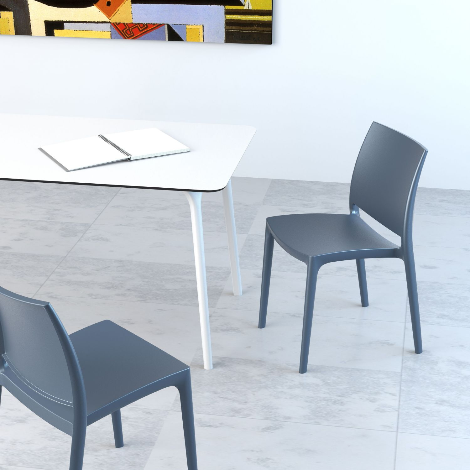 Maya Dining Chair Silver ISP025-SIL - 8