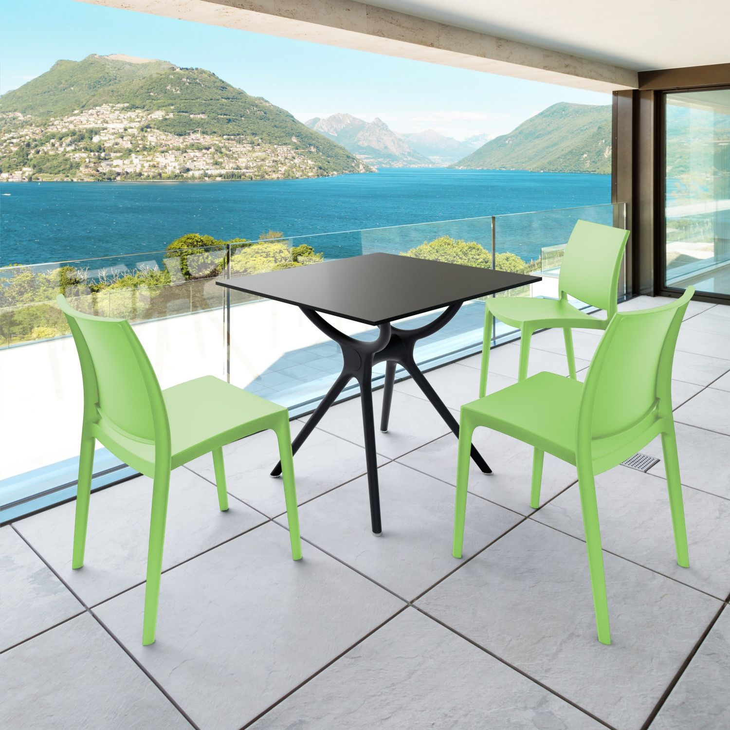 Maya Dining Chair Tropical Green ISP025-TRG - 17