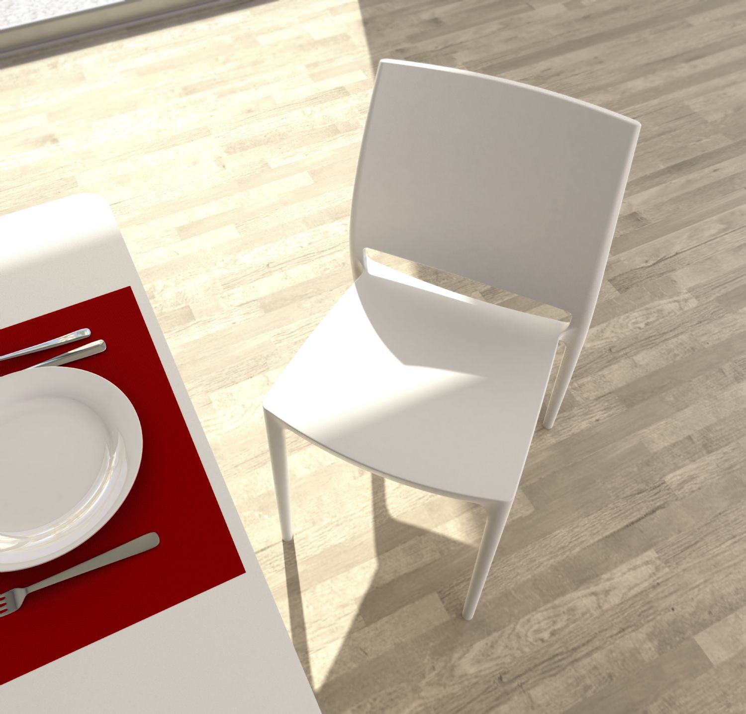 Maya Dining Chair Silver ISP025-SIL - 22
