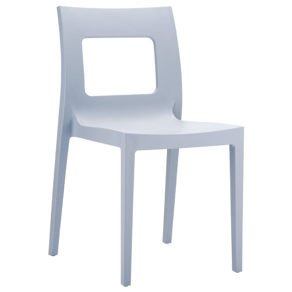 Lucca Dining Chair Silver ISP026-SIL