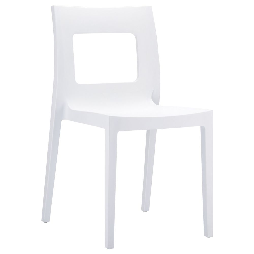 Lucca Dining Chair White ISP026-WHI