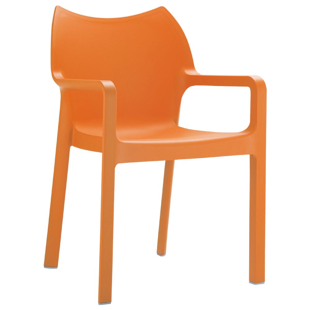 Diva Resin Outdoor Dining Arm Chair Orange ISP028-ORA