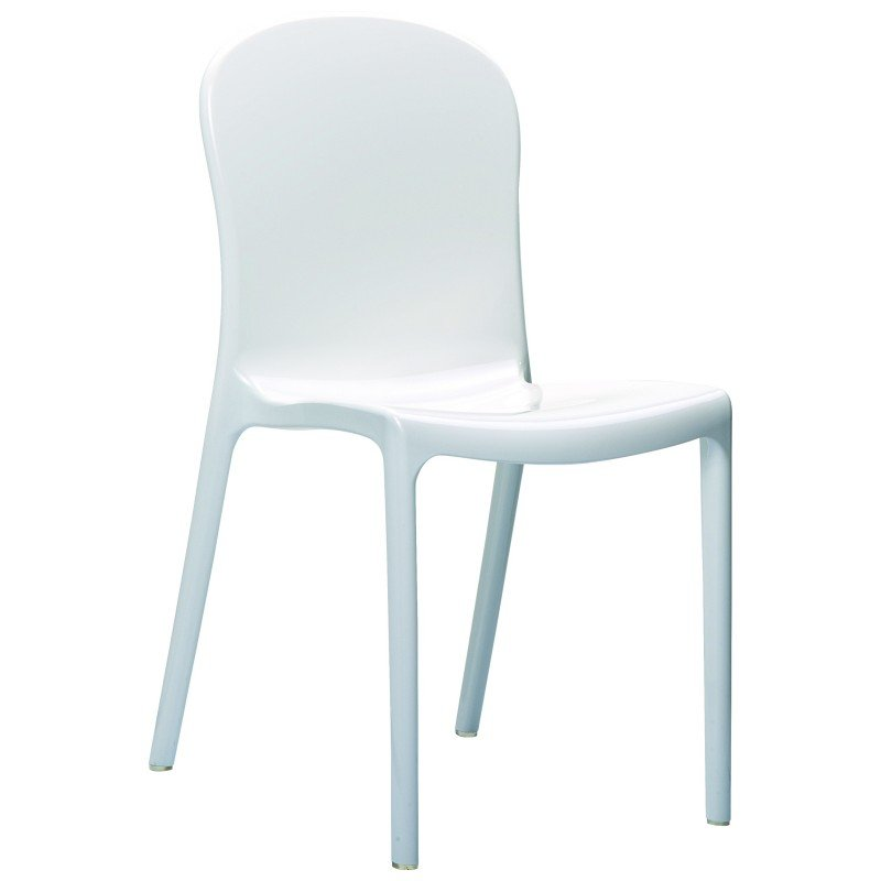 Victoria Polycarbonate Modern Dining Chair White ISP033-GWHI