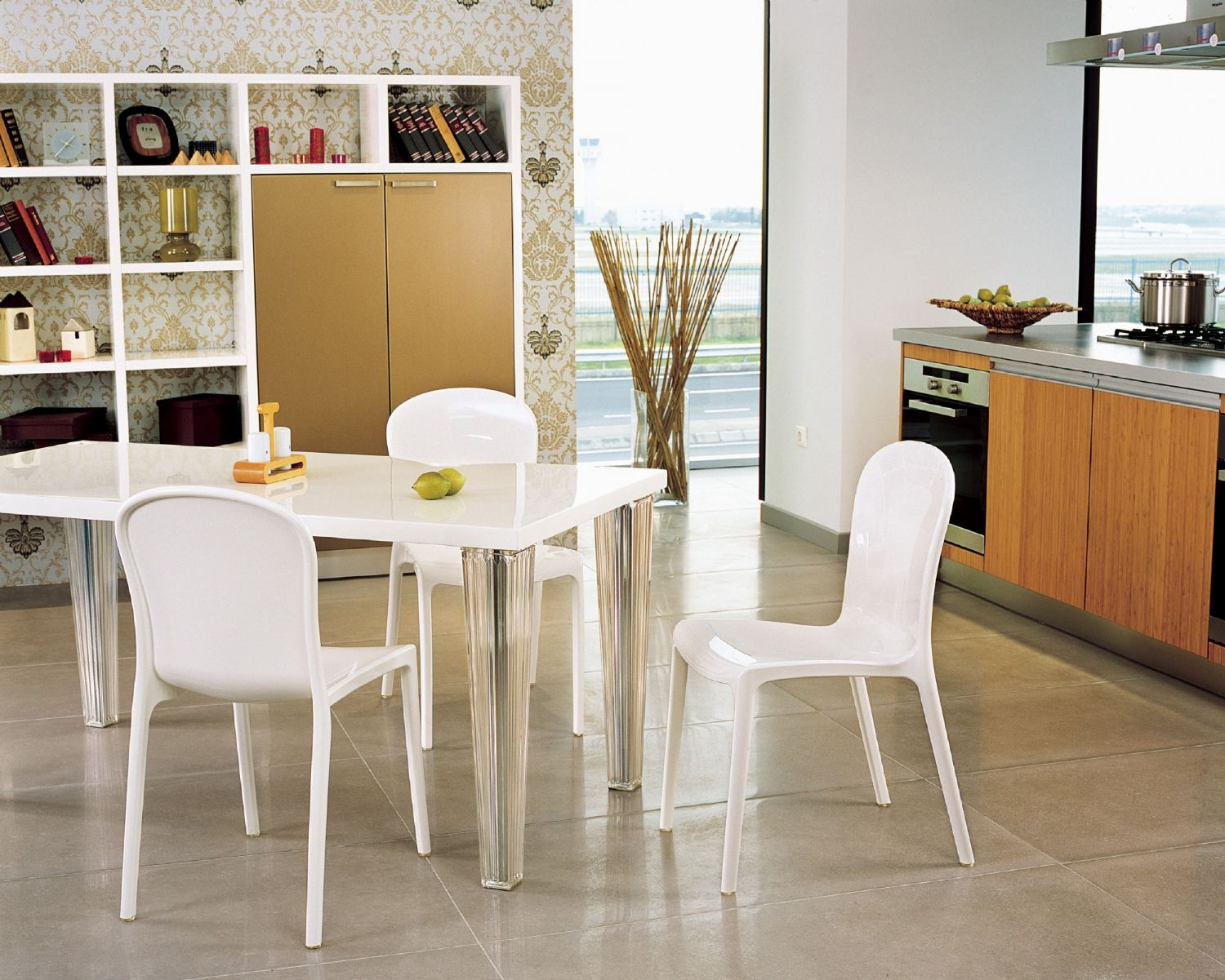 Victoria Polycarbonate Modern Dining Chair Transparent Gray ISP033-TGRY - 10
