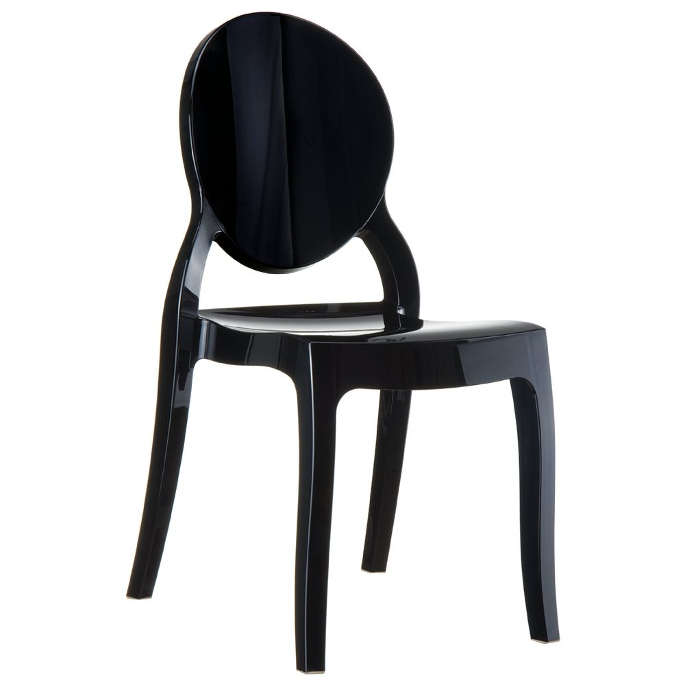Elizabeth Polycarbonate Dining Chair Glossy Black ISP034-GBLA