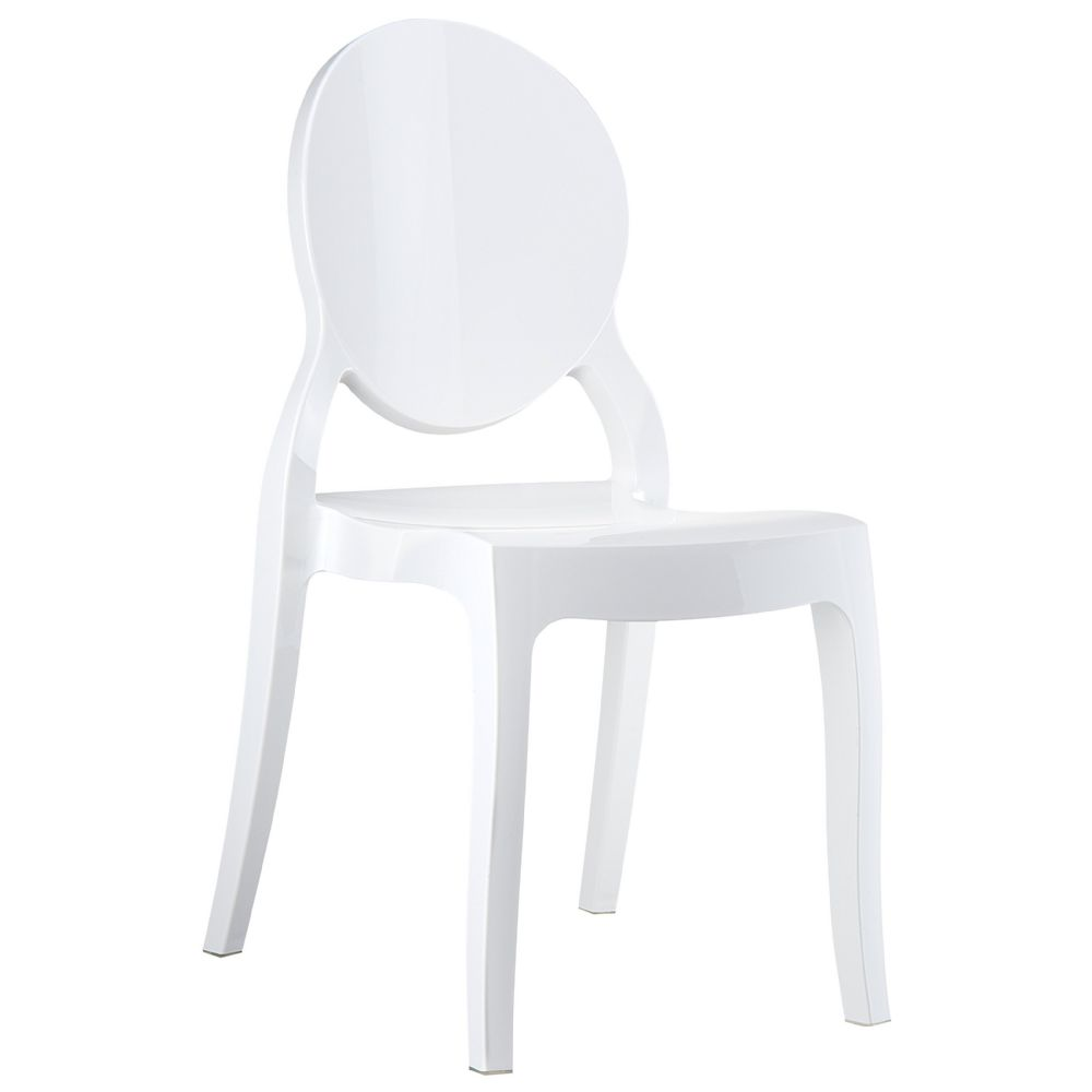 Elizabeth Polycarbonate Dining Chair White ISP034-GWHI