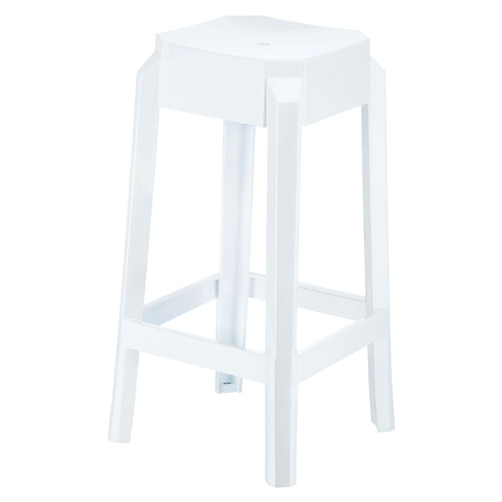 Fox Polycarbonate Counter Stool Glossy White ISP036-GWHI