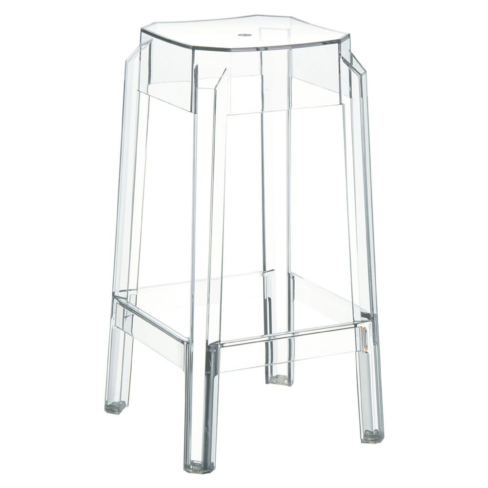 Fox Polycarbonate Counter Stool Transparent Clear ISP036-TCL