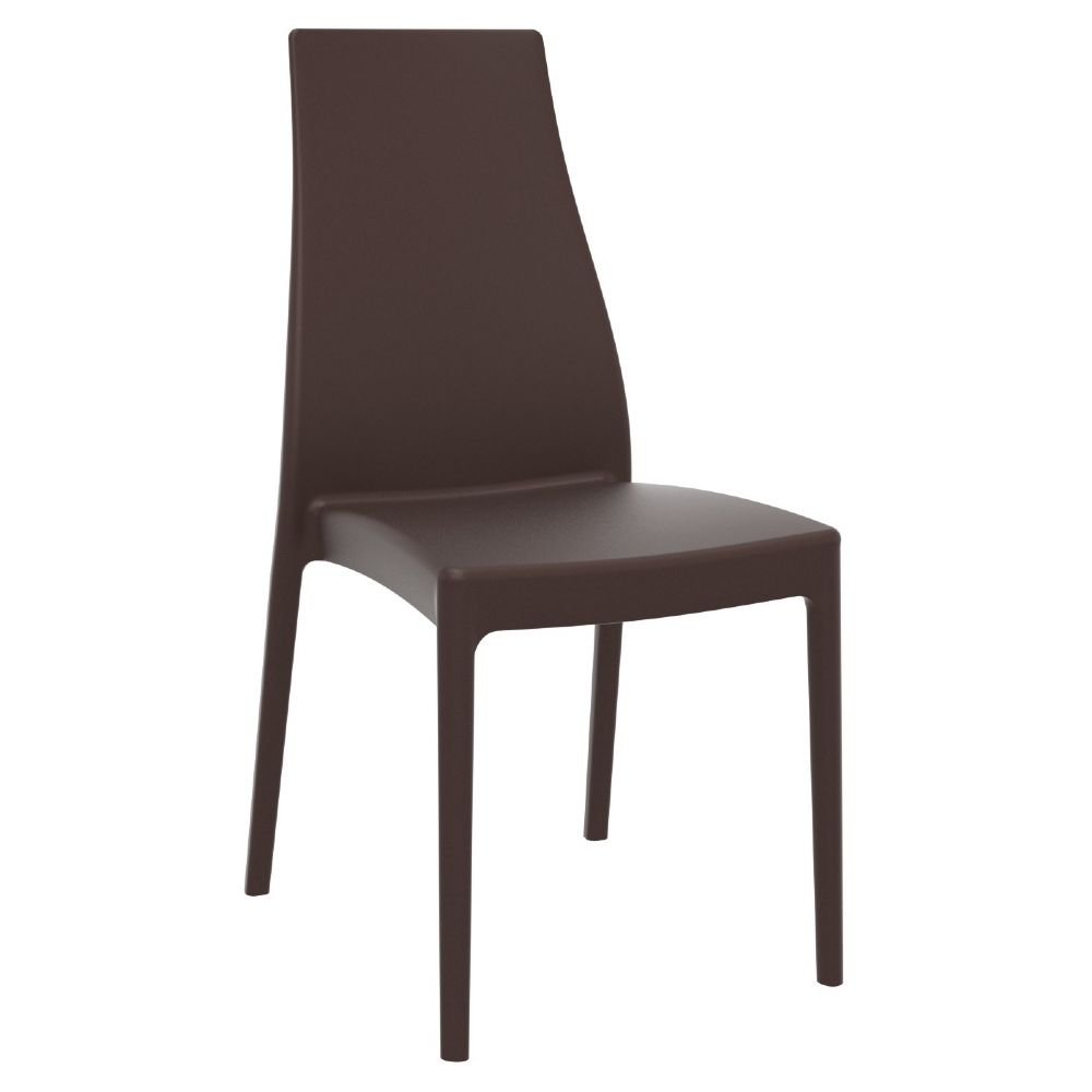 Miranda High-Back Dining Chair Brown ISP039-BRW