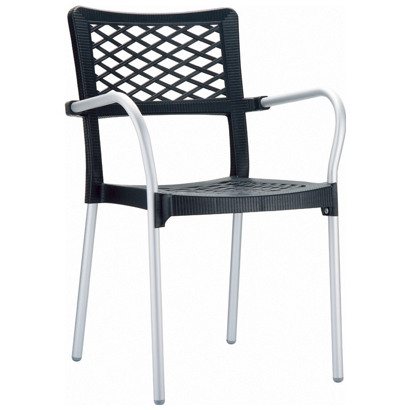 Bella Dining Arm Chair Anthracite ISP040-BLA