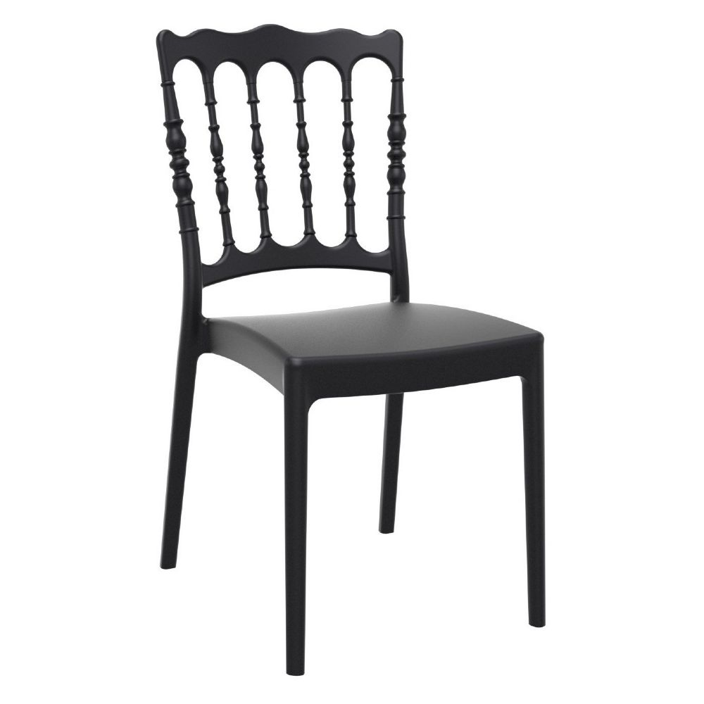 Napoleon Resin Wedding Chair Black ISP044-BLA