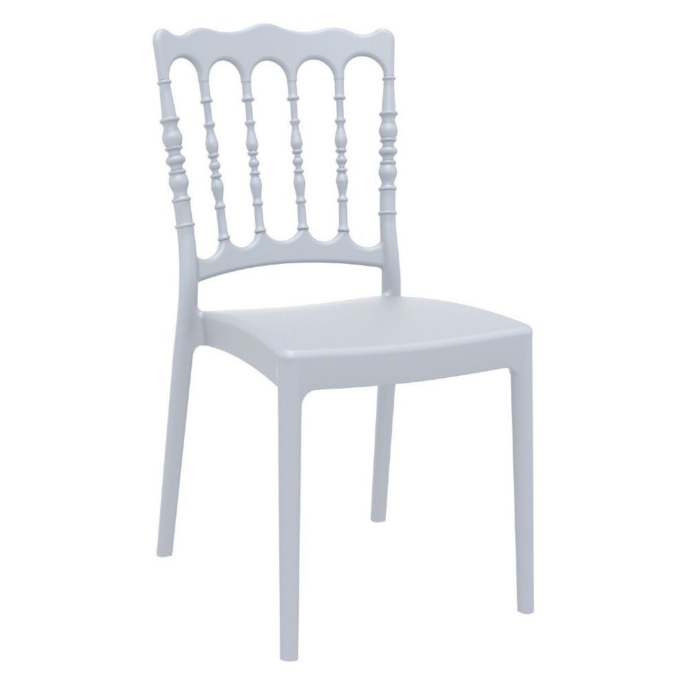Napoleon Resin Wedding Chair Silver Gray ISP044-SIL