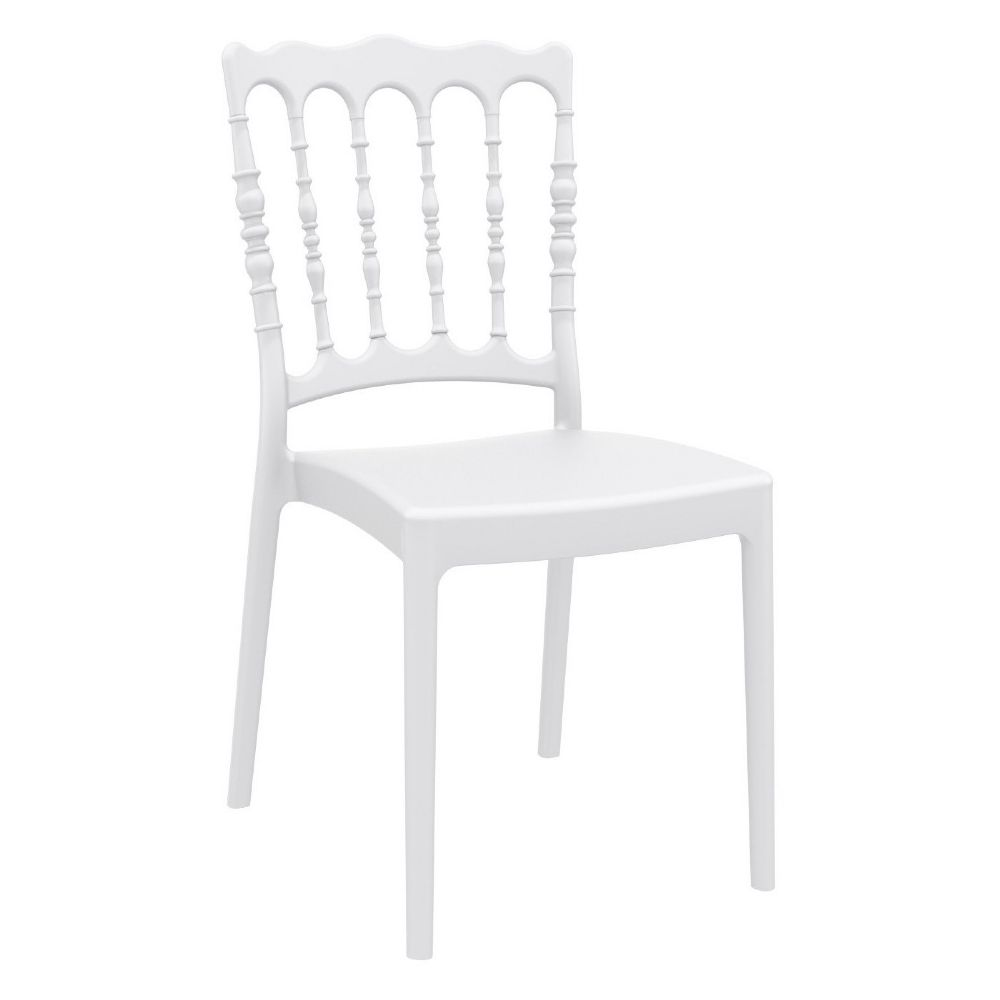 Napoleon Resin Wedding Chair White ISP044-WHI
