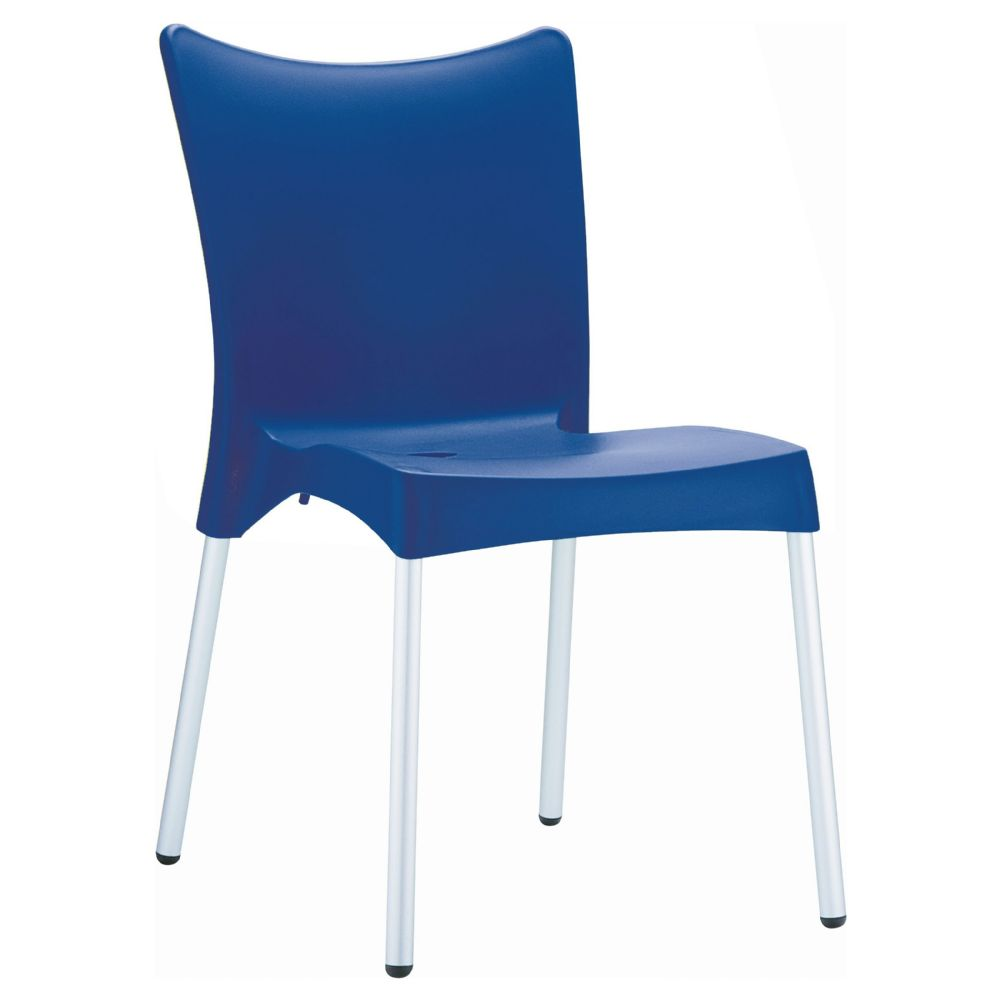 Juliette Resin Dining Chair Blue ISP045-DBL