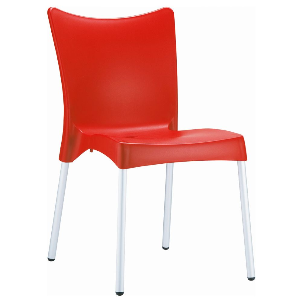 Juliette Resin Dining Chair Red ISP045-RED